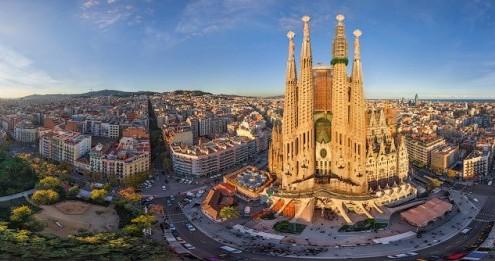 Barcelona Aerial Panorama